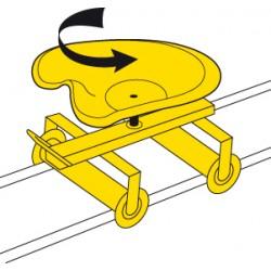 Siège de travail sur rails